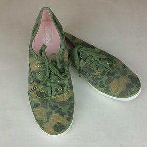 Keds Triple Camo Ripstop Lace Up Sneakers 7 EUC